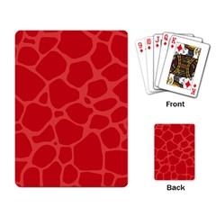 Autumn Animal Print 6 Playing Card by tarastyle
