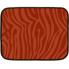 Autumn Animal Print 8 Double Sided Fleece Blanket (mini)  by tarastyle