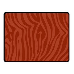 Autumn Animal Print 8 Double Sided Fleece Blanket (small)  by tarastyle
