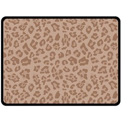 Autumn Animal Print 9 Fleece Blanket (large)  by tarastyle