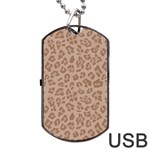 Autumn Animal Print 9 Dog Tag USB Flash (Two Sides) Back