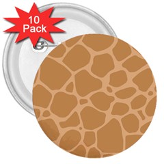 Autumn Animal Print 10 3  Buttons (10 pack)