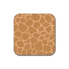 Autumn Animal Print 10 Rubber Coaster (Square)