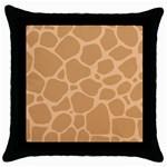 Autumn Animal Print 10 Throw Pillow Case (Black)