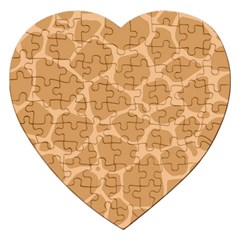 Autumn Animal Print 10 Jigsaw Puzzle (heart) by tarastyle