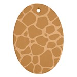 Autumn Animal Print 10 Oval Ornament (Two Sides)