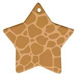 Autumn Animal Print 10 Star Ornament (Two Sides)