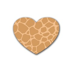 Autumn Animal Print 10 Heart Coaster (4 Pack)  by tarastyle