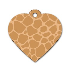 Autumn Animal Print 10 Dog Tag Heart (Two Sides)
