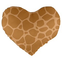 Autumn Animal Print 10 Large 19  Premium Flano Heart Shape Cushions by tarastyle