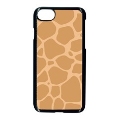 Autumn Animal Print 10 Apple Iphone 7 Seamless Case (black)