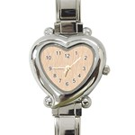 Autumn Animal Print 11 Heart Italian Charm Watch Front