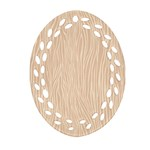 Autumn Animal Print 11 Ornament (Oval Filigree) Front