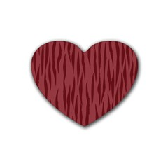 Autumn Animal Print 12 Rubber Coaster (heart)  by tarastyle