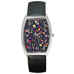 Cute Doodle Flowers 1 Barrel Style Metal Watch by tarastyle