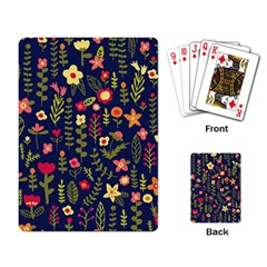 Cute Doodle Flowers 1 Playing Card by tarastyle