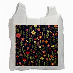 Cute Doodle Flowers 1 Recycle Bag (one Side) by tarastyle