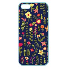 Cute Doodle Flowers 1 Apple Seamless Iphone 5 Case (color) by tarastyle