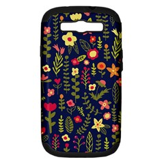 Cute Doodle Flowers 1 Samsung Galaxy S Iii Hardshell Case (pc+silicone) by tarastyle