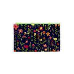 Cute Doodle Flowers 1 Cosmetic Bag (xs) by tarastyle