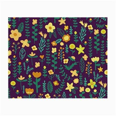 Cute Doodle Flowers 2 Small Glasses Cloth (2 Side) by tarastyle