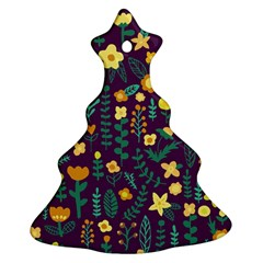 Cute Doodle Flowers 2 Christmas Tree Ornament (two Sides) by tarastyle