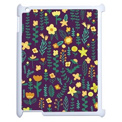 Cute Doodle Flowers 2 Apple Ipad 2 Case (white) by tarastyle