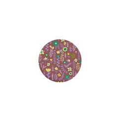 Cute Doodle Flowers 3 1  Mini Buttons by tarastyle