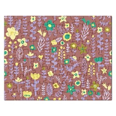 Cute Doodle Flowers 3 Rectangular Jigsaw Puzzl by tarastyle