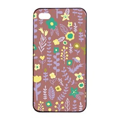 Cute Doodle Flowers 3 Apple Iphone 4/4s Seamless Case (black) by tarastyle