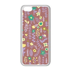 Cute Doodle Flowers 3 Apple Iphone 5c Seamless Case (white) by tarastyle