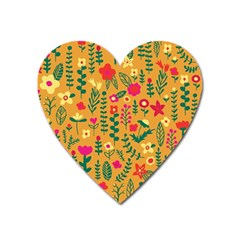 Cute Doodle Flowers 4 Heart Magnet by tarastyle