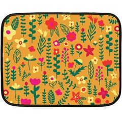 Cute Doodle Flowers 4 Fleece Blanket (mini) by tarastyle