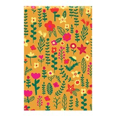 Cute Doodle Flowers 4 Shower Curtain 48  X 72  (small)  by tarastyle