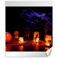 Awaiting Halloween Night Canvas 8  X 10  by gothicandhalloweenstore