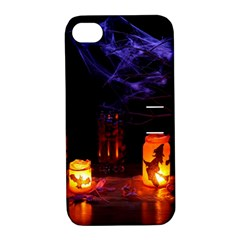 Awaiting Halloween Night Apple Iphone 4/4s Hardshell Case With Stand