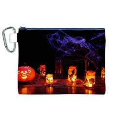 Awaiting Halloween Night Canvas Cosmetic Bag (xl) by gothicandhalloweenstore