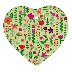 Cute Doodle Flowers 5 Ornament (heart) by tarastyle