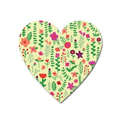 Cute Doodle Flowers 5 Heart Magnet by tarastyle