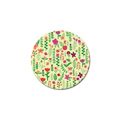 Cute Doodle Flowers 5 Golf Ball Marker by tarastyle