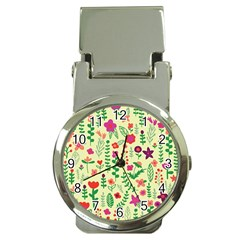 Cute Doodle Flowers 5 Money Clip Watches by tarastyle