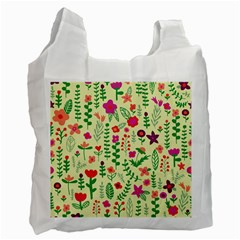 Cute Doodle Flowers 5 Recycle Bag (one Side) by tarastyle