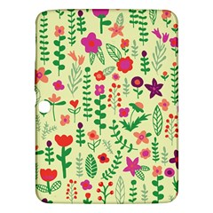 Cute Doodle Flowers 5 Samsung Galaxy Tab 3 (10 1 ) P5200 Hardshell Case  by tarastyle