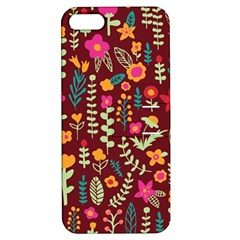Cute Doodle Flowers 6 Apple Iphone 5 Hardshell Case With Stand by tarastyle
