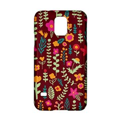 Cute Doodle Flowers 6 Samsung Galaxy S5 Hardshell Case  by tarastyle