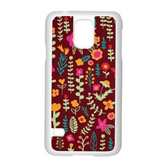 Cute Doodle Flowers 6 Samsung Galaxy S5 Case (white) by tarastyle