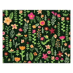 Cute Doodle Flowers 7 Rectangular Jigsaw Puzzl by tarastyle