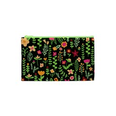 Cute Doodle Flowers 7 Cosmetic Bag (xs) by tarastyle