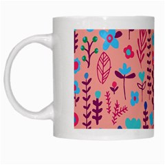 Cute Doodle Flowers 8 White Mugs by tarastyle