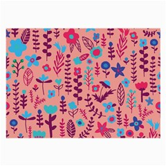Cute Doodle Flowers 8 Large Glasses Cloth (2 Side) by tarastyle